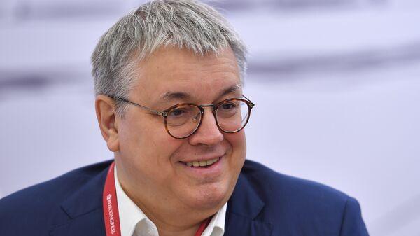 Ректор НИУ ВШЭ Ярослав Кузьминов на Петербургском международном экономическом форуме. 24 мая 2018