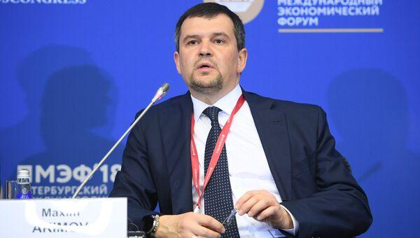Заместитель председателя правительства Российской Федерации Максим Акимов на Петербургском международном экономическом форуме. 24 мая 2018