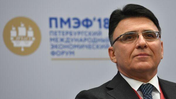 Руководитель Роскомнадзора Александр Жаров на Петербургском международном экономическом форуме. 25 мая 2018