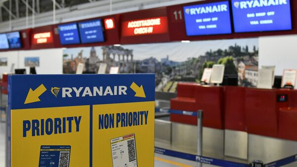 Регистрационная стойка Ryanair в аэропорту Рим-Чампино