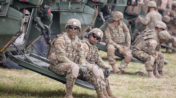 Американские военные во время учений в Польше. Архивное фото