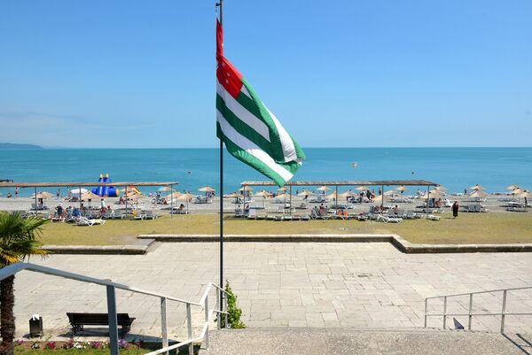 Флаг Абхазии в Пицунде