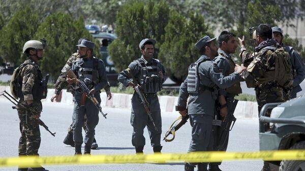 Сотрудники правоохранительных органов в Афганистане