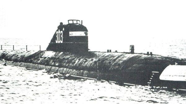 Атомная подводная лодка К-3 Ленинский комсомол (проекта 627). Архивное фото