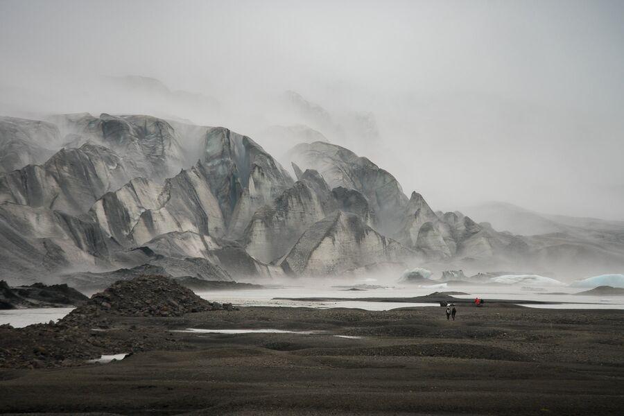 Исландия, Скафтафель, Ледник Скафтафельйокуль