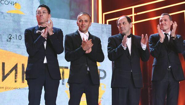 Члены жюри основного конкурса 29-го российского кинофестиваля Кинотавр на церемонии открытия