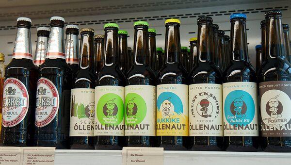 Продажа пива в Эстонии. Архивное фото