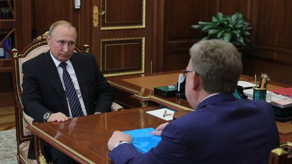 Президент РФ Владимир Путин и председатель Счетной палаты Алексей Кудрин во время встречи. 4 июня 2018