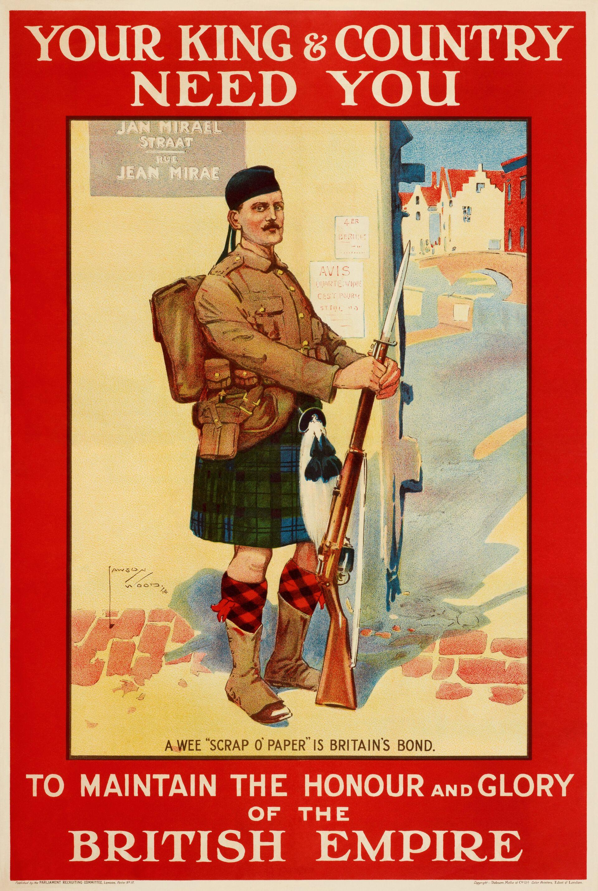 Агитационный плакат времен Первой мировой войны. Великобритания, 1914 - РИА Новости, 1920, 29.09.2020
