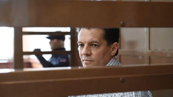 Роман Сущенко в Московском городском суде во время оглашения приговора. 4 июня 2018