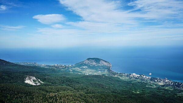 Вид на Крымский природный заповедник