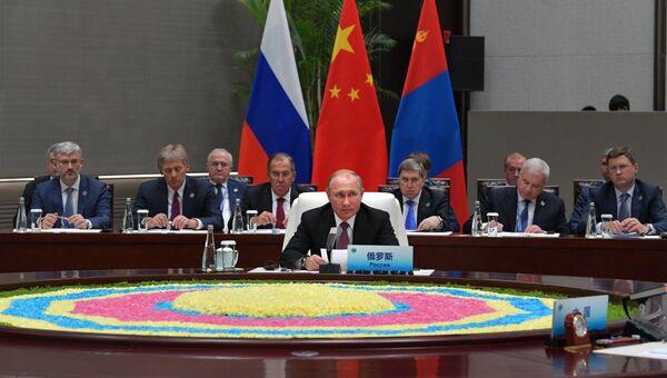 Владимир Путин на саммите ШОС. Архивное фото