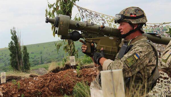 Военнослужащий армии Украины с ПЗРК Игла. Архивное фото