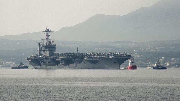 Авианосец ВМС США Гарри Трумэн в Средиземном море. Май 2018