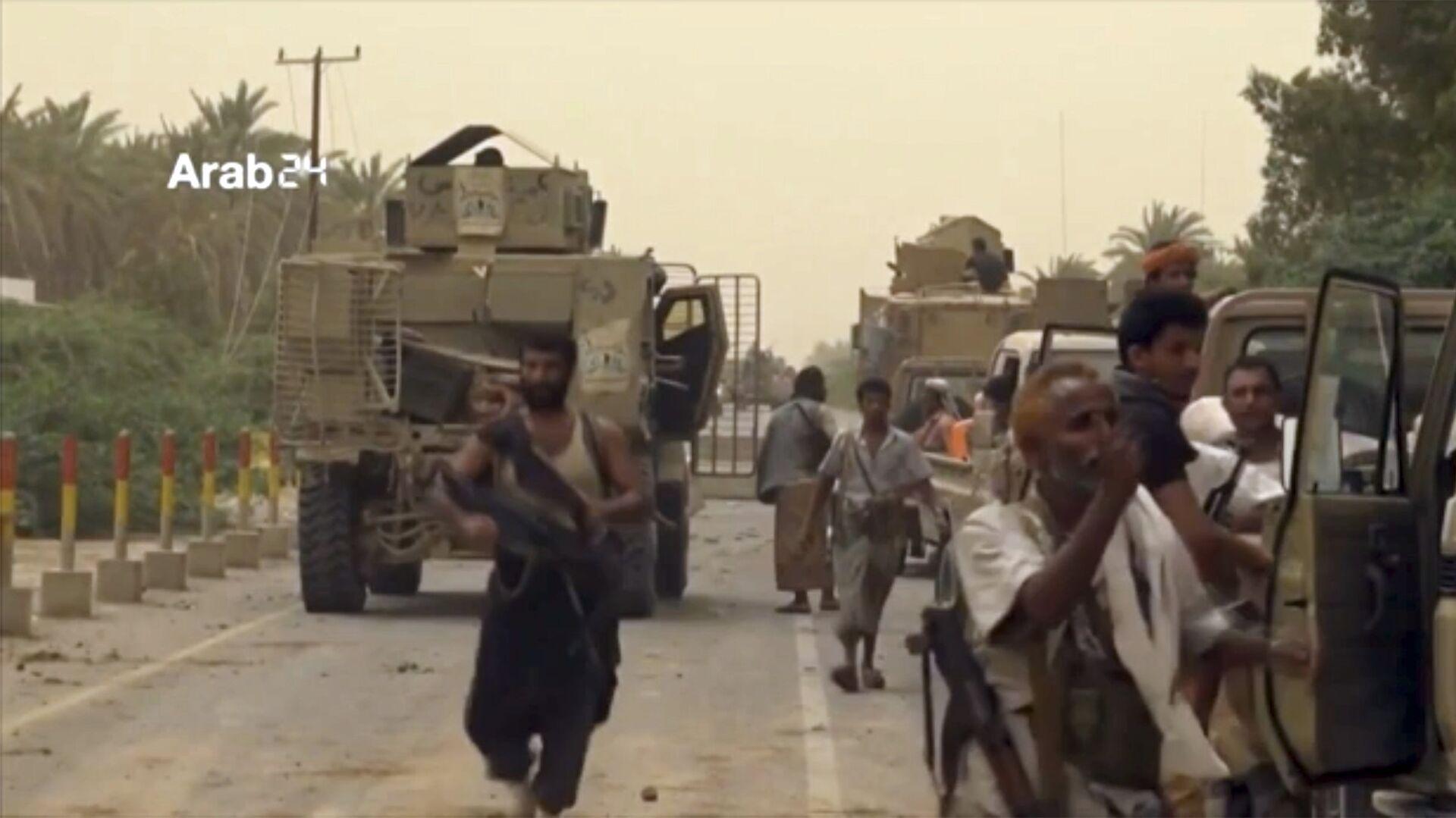 Военные силы Саудовской Аравии собираются для отбития международного аэропорта в Йемене, находящегося в городе Ходейда, у повстанцев-хуситов. 16 июня 2018  - РИА Новости, 1920, 29.03.2020