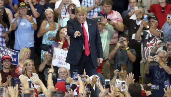 Президент США Дональд Трамп на митинге в  Миннесоте. 20 июня 2018