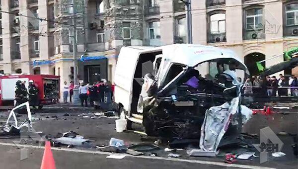 ДТП на Кутузовском проспекте, Москва. 21 июня 2018