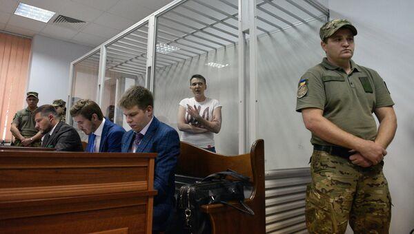 Депутат Верховной рады Украины Надежда Савченко, во время заседания в Шевченковском районном суде города Киева. 22 июня 2018