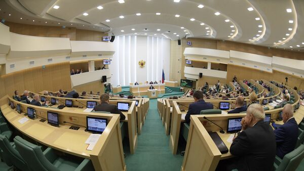 Пленарное заседание Совета Федерации России. Архивное фото