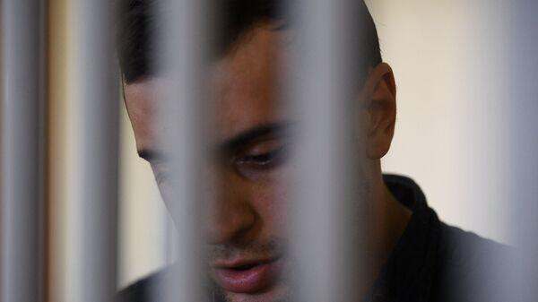 Михаил Исаханов во время рассмотрения ходатайства следствия о его аресте в Головинском суде Москвы.