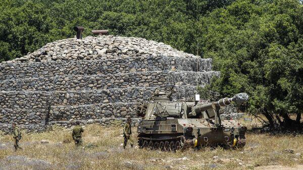 Израильская самоходная артиллерийская установка на Голанских высотах