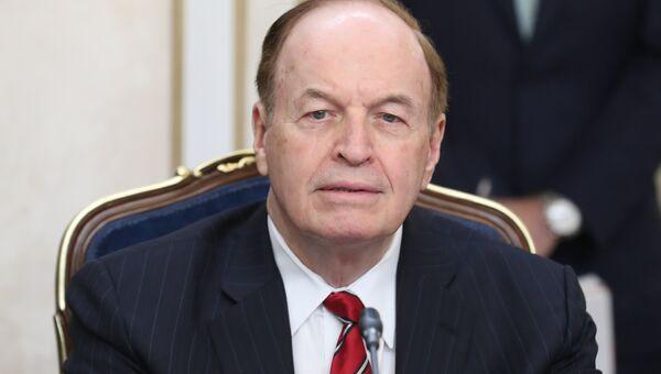 Сенатор США от штата Алабама Ричард Шелби во время встречи членов Совета Федерации РФ с делегацией Конгресса США. 3 июля 2018