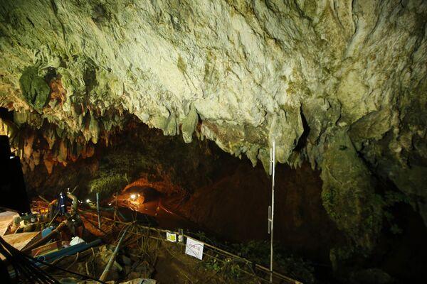 Пещера Тхам Луанг в провинции Чиангмай, Таиланд. 4 июля 2018 года