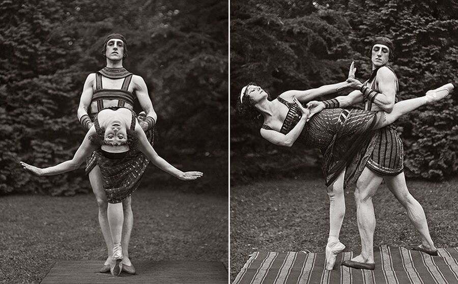 Анна Павлова и Лаврентий Новиков на репетиции балета Роман мумии