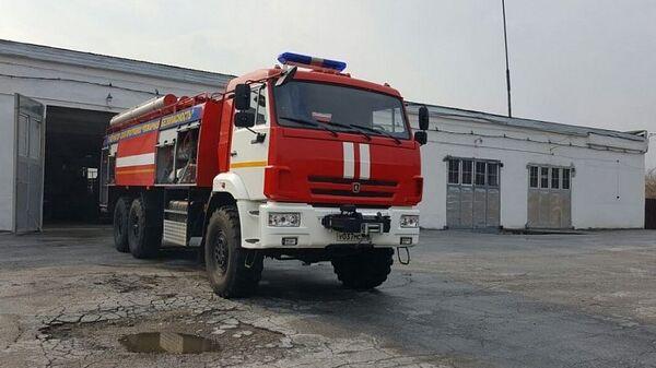 Пожарная машина ГУ МЧС России по Приморскому краю. Архивное фото