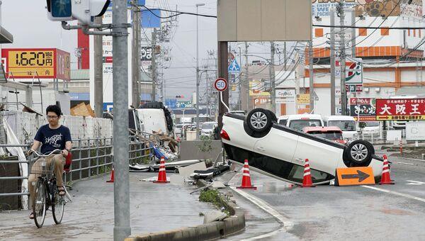 Последствия ливневых дождей в городе Одзу, префектура Эхимэ, Япония. 8 июля 2018 года