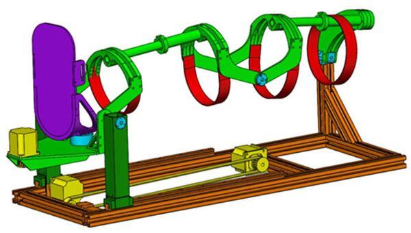 Модель устройства для реабилитации пациентов с нарушением работы нижних конечностей