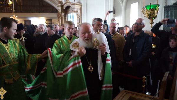 Святейший Патриарх Кирилл прибыл на Валаам. 10 июля 2018