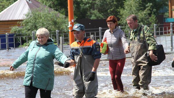 Паводковая обстановка на территории Забайкальского края. 10 июля 2018
