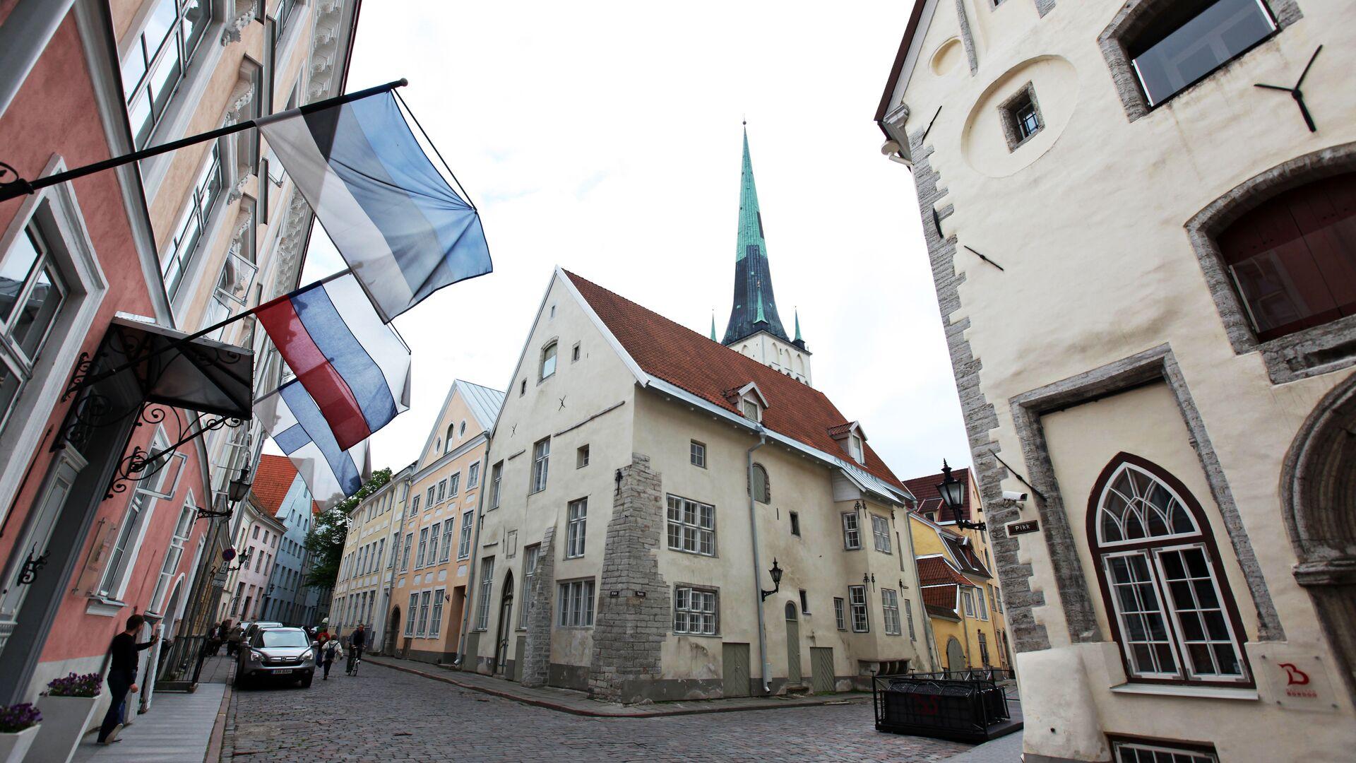 Флаги России и Эстонии в Таллине  - РИА Новости, 1920, 10.01.2021