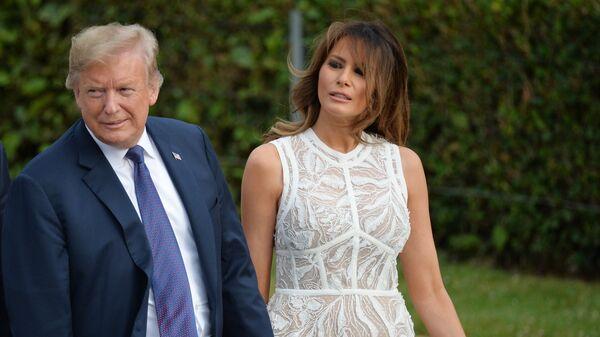 Президент США Дональд Трамп и его супруга Меланья на саммите НАТО в Брюсселе