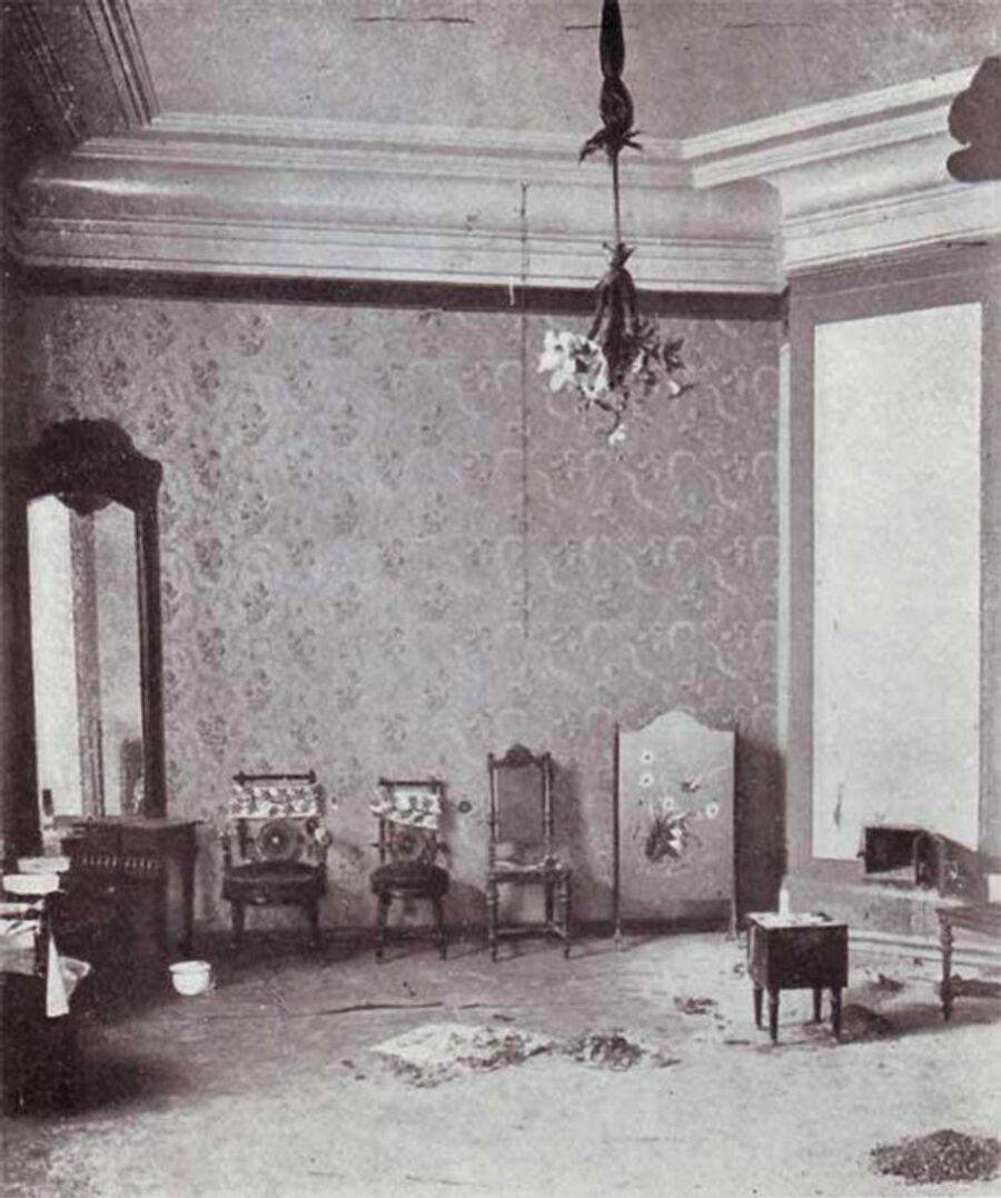 Дом Ипатьева. Комната Княжон после убийства