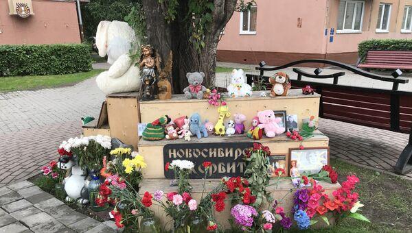 Мемориал в Кемерово, посвященный погибшим в пожаре ТЦ Зимняя Вишня. Архивное фото