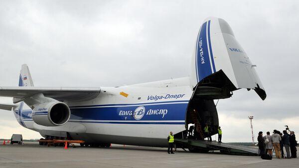 Самолет АН-124-120 Руслан компаний Волга-Днепр и AirBridgeCargо. Архивное фото