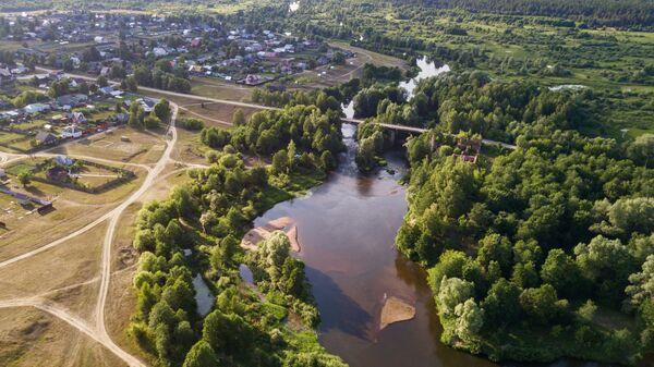 Река Гусь в поселке Гусь Железный Рязанской области