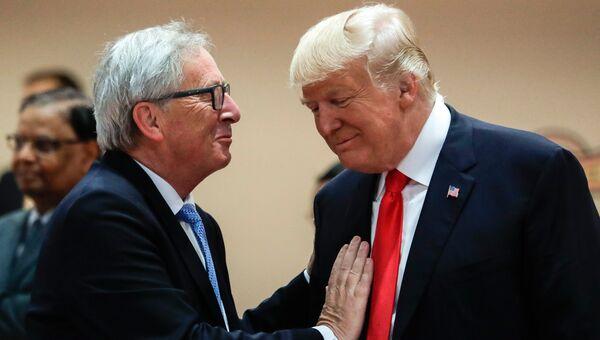 Председатель Европейской комиссии Жан-Клод Юнкер и президент США Дональд Трамп. Архивное фото