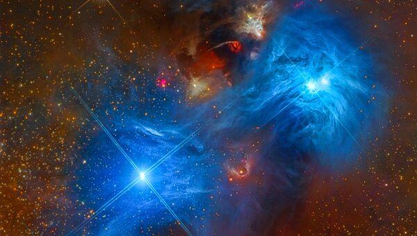 Работа фотографов Mark Hanson, Warren Keller, Steve Mazlin, Rex Parker, Tommy Tse, David Plesko, Pete Proulx NGC 6726 and NGC 6727, вошедшая в шорт-лист Insight Astronomy Photographer of the Year 2018
