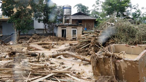 Последствия наводнения во Вьетнаме. Архивное фото