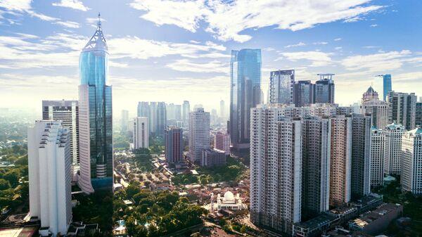 Деловой район в Джакарте, Индонезия