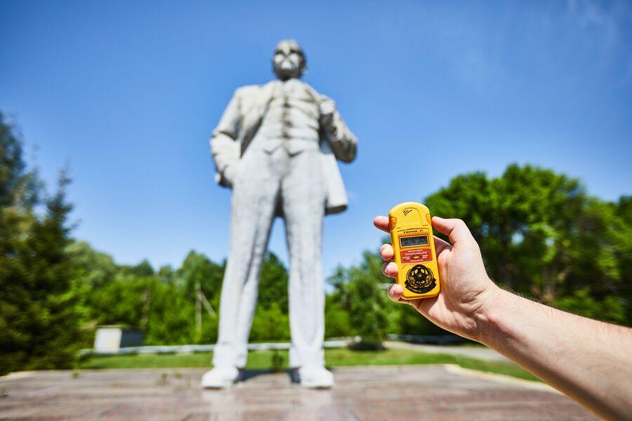 Памятник Ленину в Чернобыле