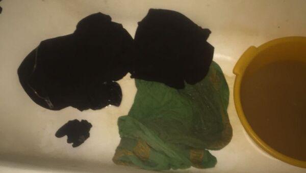 Застиранная одежда, найденная в доме подозреваемого в убийстве 5-летней девочки в Подмосковном Серпухове