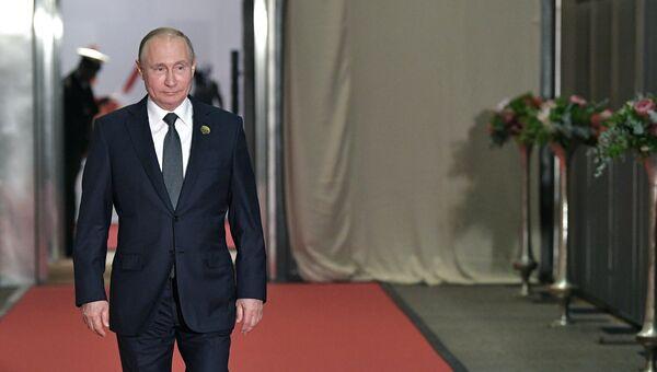 Президент РФ Владимир Путин на саммите БРИКС в ЮАР. 26 июля 2018