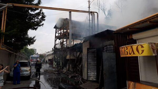 Последствия пожара в частном жилом доме в Сочи. Архивное фото