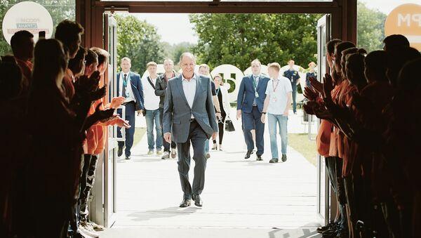 Министр иностранных дел РФ Сергей Лавров  на Всероссийском молодежном образовательном форуме Территория смыслов на Клязьме. 30 июля 2018