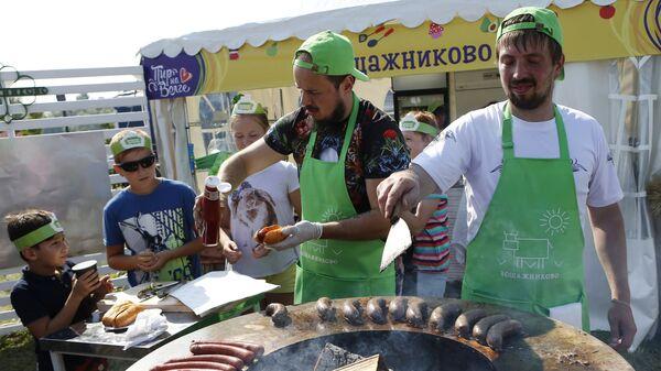 Участники гастрономического праздника Пир на Волге в Ярославле