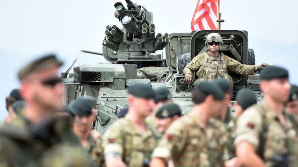 Военнослужащие на открытии международных военных учений под эгидой НАТО в Грузии